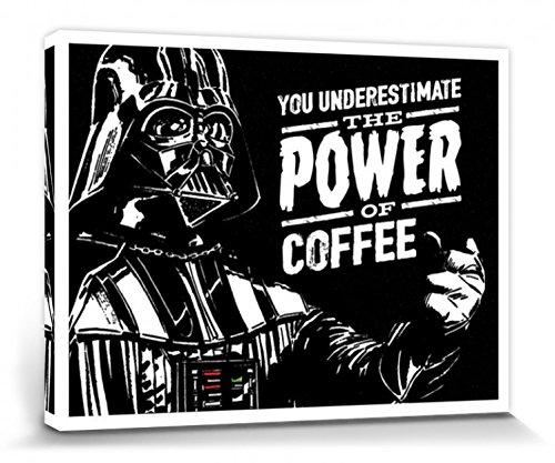 Star Wars - Darth Vader, The Power Of Coffee Cuadro, Lienzo Montado Sobre Bastidor (80 x 60cm)