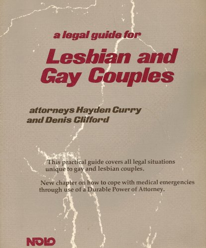 A Legal Guide for Lesbian & Gay Couples (Nolo Press Self-Help Law Books)