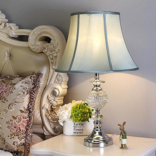 HJMTRY Moderno High-End Bedside Light Blue Lámpara de Tela Sombra Lámpara de Mesa Dormitorio Sala de estar Hotel Mesa Decoración de Luz, 35 * 62 CM (Mesas De Sala)