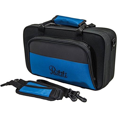 Paititi Leichter Bb Klarinettenkoffer groß Rucksack packbar mit abnehmbarem Schulterriemen, robust und modisch