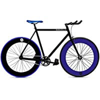 Bicicletta FB fix7 Black & Blue. Velocità Fixie/single speed. Taglia 56