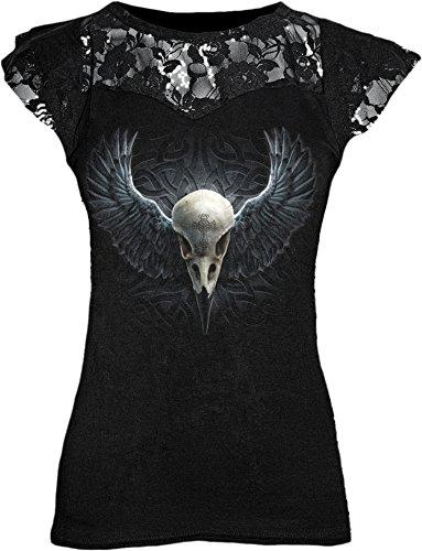 Spiral Raven Cage Maglia donna nero L