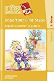 LÜK: Important First Steps: English Grammar in Class 5
