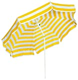 Schneider Sonnenschirm Capri, gelb/weiß, 200 cm rund, Gestell Stahl, Bespannung Polyester, 2.6 kg