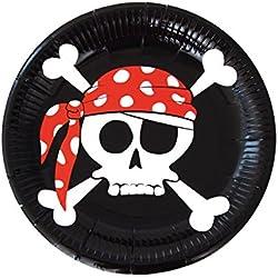 8 platos para fiesta temática de piratas.