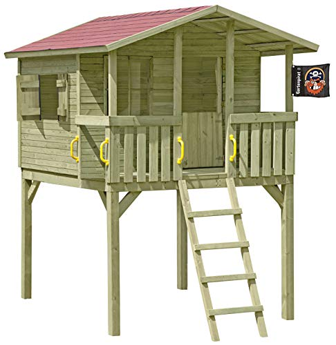 Gartenpirat Stelzenhaus Spielhaus Tom aus Holz mit Veranda