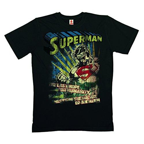 DC-Comics-Superman-Last-Hope-T-Shirt-100-coton-organique-agriculture-biologique-noir-LOGOSHIRT