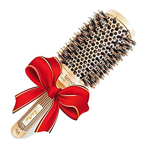 Best Blow Dry Round Hair Brush with Natural Boar Bristles for blowouts - Get Healthy Shiny Frizz-Free Hair with this Professional Salon Hair Styling Brush Large (2 inch) --1.3