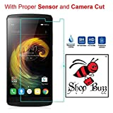 Shop Buzz Tempered Glass Screen Guard for Lenovo K4 Note (With Camera and Sensor Cut) - For Lenovo Vibe K4 Note