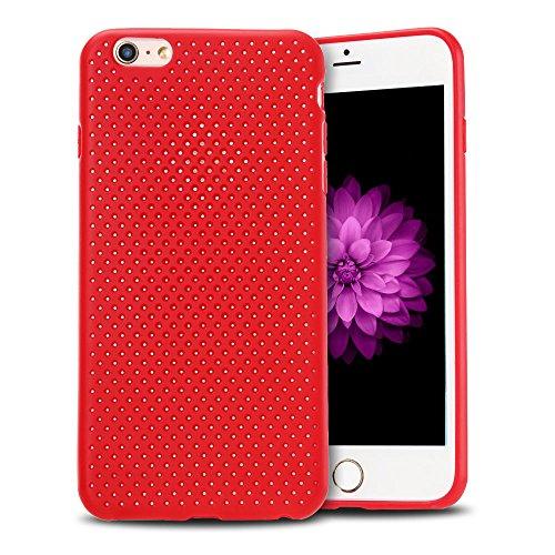 Cover iPhone 6 plus Custodia iPhone 6s plus Silicone Anfire Morbido Flessibile Gel TPU Case Cover per Apple iPhone 6 plus / 6s plus (5.5 Pollici) Ultra Sottile Leggera Opaco Antiurto Protettivo Bumper Rosso