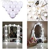 Aiboo Hollywood - Lampada a LED per specchio, tavolo da toeletta, con 10 lampadine dimmerabili per specchietti cosmetici, specchi da bagno, specchi non inclusi. 4000 K) 12.00W, 12.00V