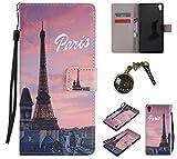 PU Abdeckungs-Fall für Sony Xperia XA Ultra (Nicht Sony Xperia XA) PU-Mappe Kasten Schutzhülle Geldbörse , Kreditkartenschlitz , Silikon Schutzhülle Handyhülle Painted zum Schutz + Staubkappe