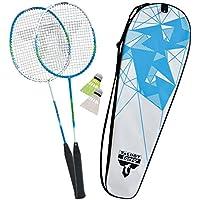 Netz 2 Bälle Tasche Charlsten Badminton Federball Set 4 Schläger