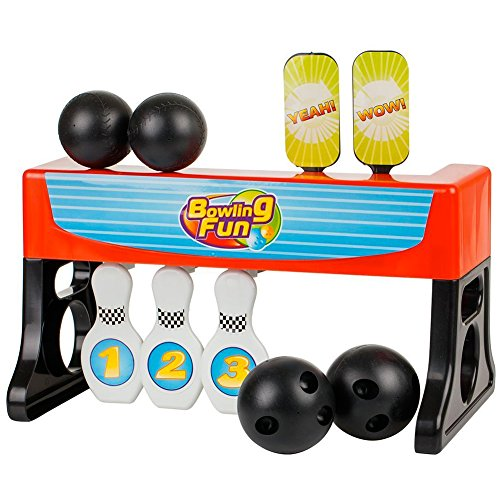 Bakaji Bowling 2 in 1 Set Con 4 Palle + 3 Birilli + 2 Bersagli Bambini Sport Giochi in Casa o all'aperto