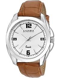 Laurels White Color Analog Men's Watch With Strap: LWM-DIP-011607