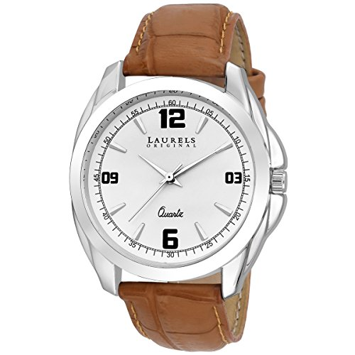 Laurels White Color Analog Men's Watch With Strap: LWM-DIP-011607