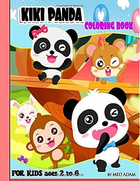 Kiki Panda Coloring Book Babybus For Kids Age 2 6 Amazon Co Uk Adam Med 9798638807474 Books