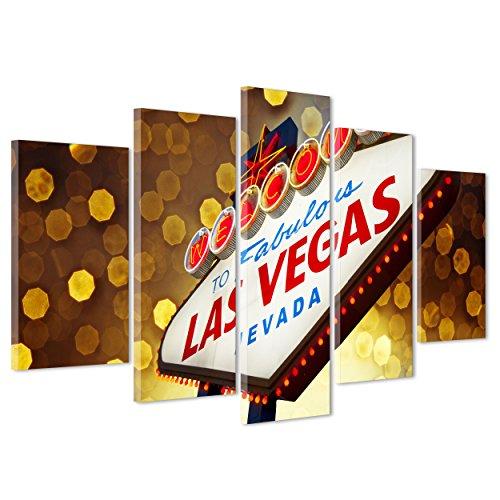 Bild auf Leinwand Canvas-Gerahmt-fertig zum Aufhängen-Las Vegas-Nevada-Casino '-USA Amerika 170x86cm