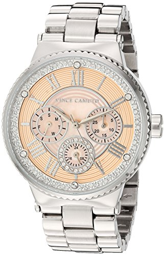 Vince Camuto Women's VC/5313PMSV Swarovski Crystal Accented Silver-Tone Bracelet Watch