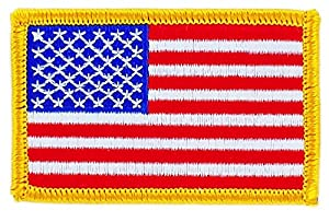 Patch écusson brodé drapeau usa etats unis americain thermocollant backpack