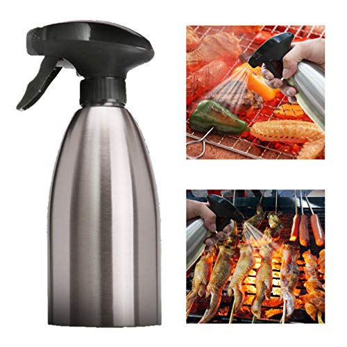 KBstore Dispensador de Pulverizador de Aceite de Oliva e Vinagre - Acero Inoxidable Botella de Rociador Spray para Barbacoa/Ensalada/Hornear Pan/Cocina (500 ml) #5