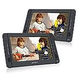 Pumpkin Lettore dvd portatile bambini auto poggiatesta doppio schermo da 10.1pollici,regione free, lettore usb/sd carta/mmc, supporta av-in/out