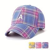Yaal Baseballkappe, Visor Plaid DREI-Farben-Sonne Hat Männlichen Hip-Hop-Brief Eine Baseball Kappe Für Männer Und Frauen,Purple