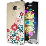 Samsung Galaxy A3 2016 Coque Protection de NICA, Housse Motif Silicone Portable Premium Case Cover Transparente, Ultra-Fine Souple Gel Slim Bumper Etui pour A3-16, Designs:Spring Flowers