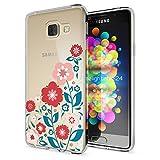 Samsung Galaxy A3 2017 Hülle Handyhülle von NALIA, Slim Silikon Motiv Case Cover Crystal Schutzhülle Dünn Durchsichtig Etui Handy-Tasche Backcover Transparent Phone Bumper, Designs:Spring Flowers