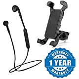 Drumstone S6 Wireless Stereo Earphones V4.1 With Universal 360 Rotation Bicycle Bike Phone Mount Mobile Holder Compatible With Xiaomi, Lenovo, Apple, Samsung, Sony, Oppo, Gionee, Vivo Smartphones (One Year Warranty)