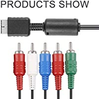 Dailyinshop 1 unids Nueva Llegada HD Componente Cable de Audio y Video AV Cable para PS2 PS3 Delgado (Color Negro)