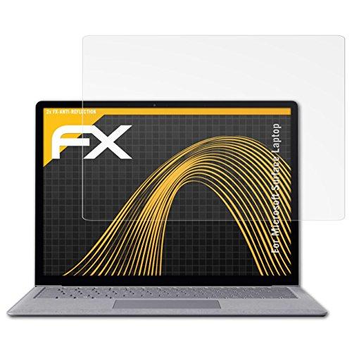 Microsoft Surface Laptop Displayschutzfolie - 2 x atFoliX FX-Antireflex blendfreie Folie Schutzfolie