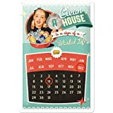 Nostalgic-Art 22209 Say it 50's A Clean House is a Sign of a Wasted Life Kalender Blechschild, 20 x 30 cm