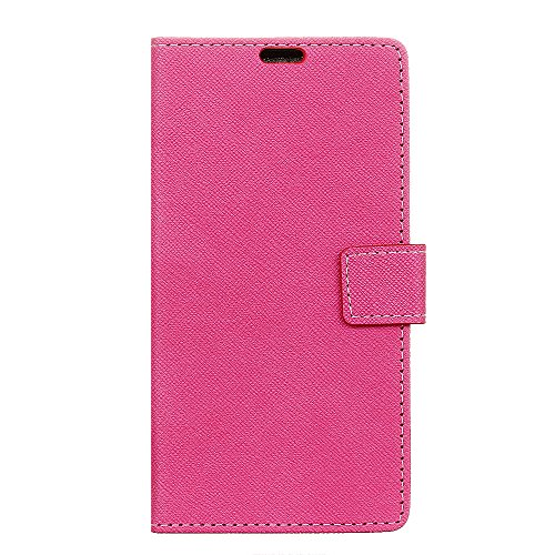 Huawei Y6 Pro 2017 Wallet case Huawei Y6 Pro 2017 case,Premium Homory Design PU Leather & Soft TPU Built-In Card/Cash Slots,Wallet Case by Homory (Hot Pink) Hot Pink Tpu Case