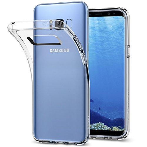 Samsung Galaxy S8 Hülle, Spigen® [Liquid Crystal] Soft Flex Silikon [Crystal Clear] Transparent Ultra Dünn Schlank Bumper-Style Handyhülle Premium Kratzfest TPU Durchsichtige Schutzhülle für Samsung Galaxy S8 Case Cover, Samsung S8 Case Cover - Crystal Clear (565CS21612)