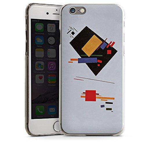 Apple iPhone 6 Housse Étui Silicone Coque Protection Malevitch Composition suprématiste Art CasDur transparent