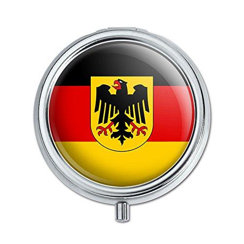 Deutschland mit Wappen National Land Flagge Pille Fall Schmuckkästchen Geschenk-Box (Gehäuse-deckel Aufklappbaren)