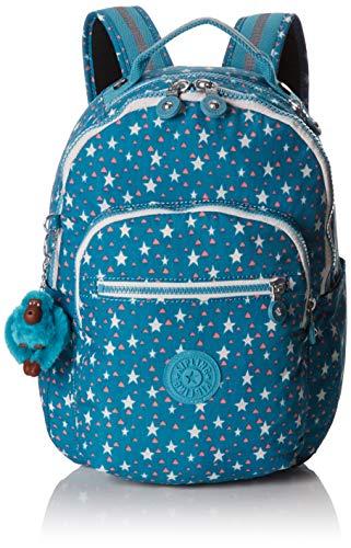 Kipling Seoul GO S Mochila Escolar, 35 cm, 14 litros, Cool Star Girl
