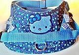Hundegeschirr S M L XL XXL Brustgeschirr bestickt Blau Katze