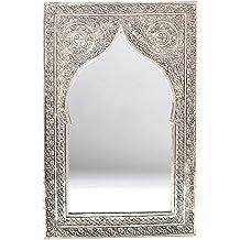 albena Marokko Galerie 23-100 Casi espejo marroquí oriental 41 x 27 cm latón plateado