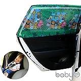 Große rechteckige Baby Auto Lampenschirm mit Tiere für hinten Seite Fenster bietet maximale UV-Schutz für Baby