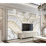ورق جدران ثلاثي الابعاد تصميم استيل بديل الجبس والرخام الهندسي     - ورق حائط مقاس 4X3