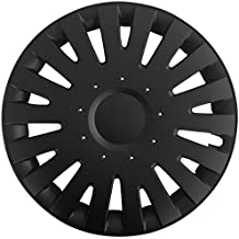 (Farbe & Größe wählbar) 14 Zoll Radkappen MALACHIT Schwarz passend für fast alle gängingen Fahrzeuge (universal)