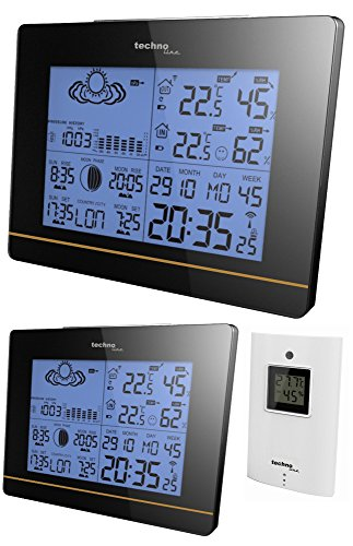 Technoline Funk-Wetterstation WS 6750 Plus mit 2 Displays Hochglanz-Optik