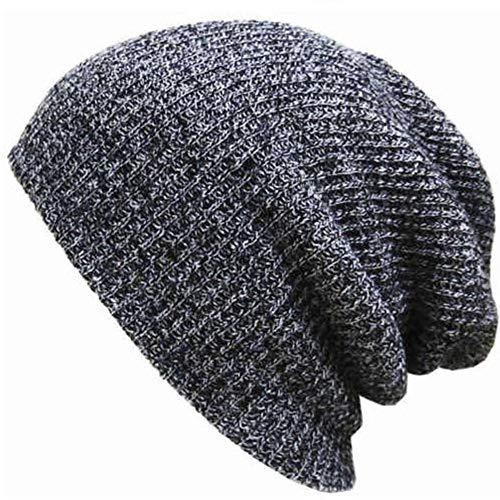 LETAMG Mützen Men's Winter Hüte Ladies'Knitted Freizeit Hüte Crochet Gestrickte Lose Bohnen Skifahren Freizeit Chic Strickmützen Skulls Herbst Hüte Mädchen Und Boysdark Grey (Hüte Crochet Winter Womens)