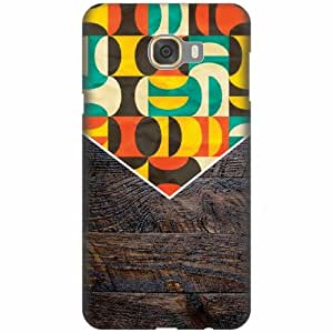 Printland Designer Back Cover For Samsung galaxy C7 - Wood Design Cases Cover