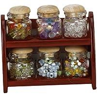 Dcolor 12.1 miniatura olla especiero botella de cristal Tarros Casa de munecas Accesorios Cocina