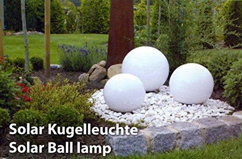 Gartenleuchten Gartenlampen LED Leuchtkugel Solar 20/30/40 cm 3er Set4