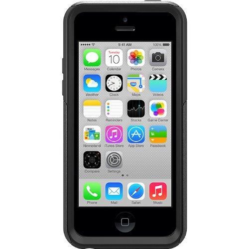 OtterBox Commuter Series Schutzhülle für iPhone 5C, in Einzelhandelsverpackung, Pink/Grau, 5c case, schwarz (Case 5c Iphone Otterbox)