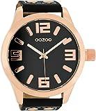 Oozoo C1109–Uhr für Männer, Lederband schwarz